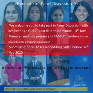 Nomination for Panel Discussion